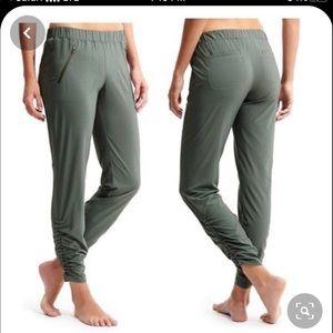 Athleta Aspire Green Ankle Pants